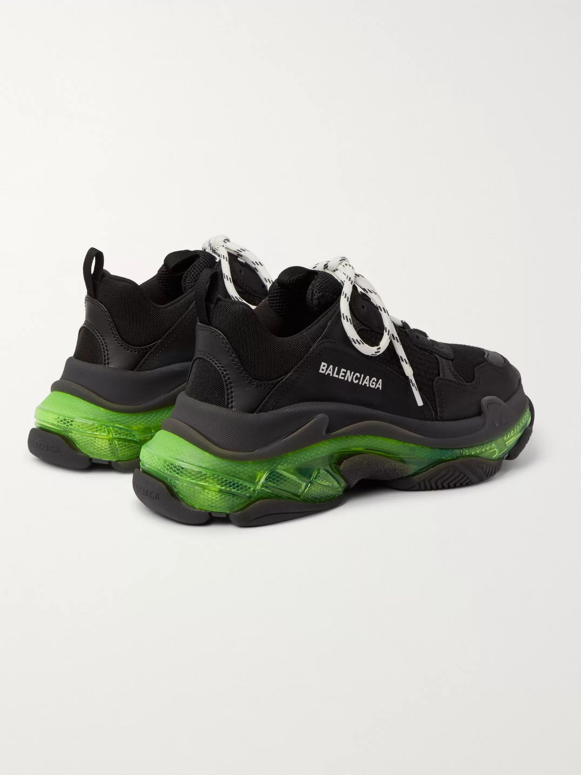 Balenciaga Triple S Clear Sole Mesh Sneakers