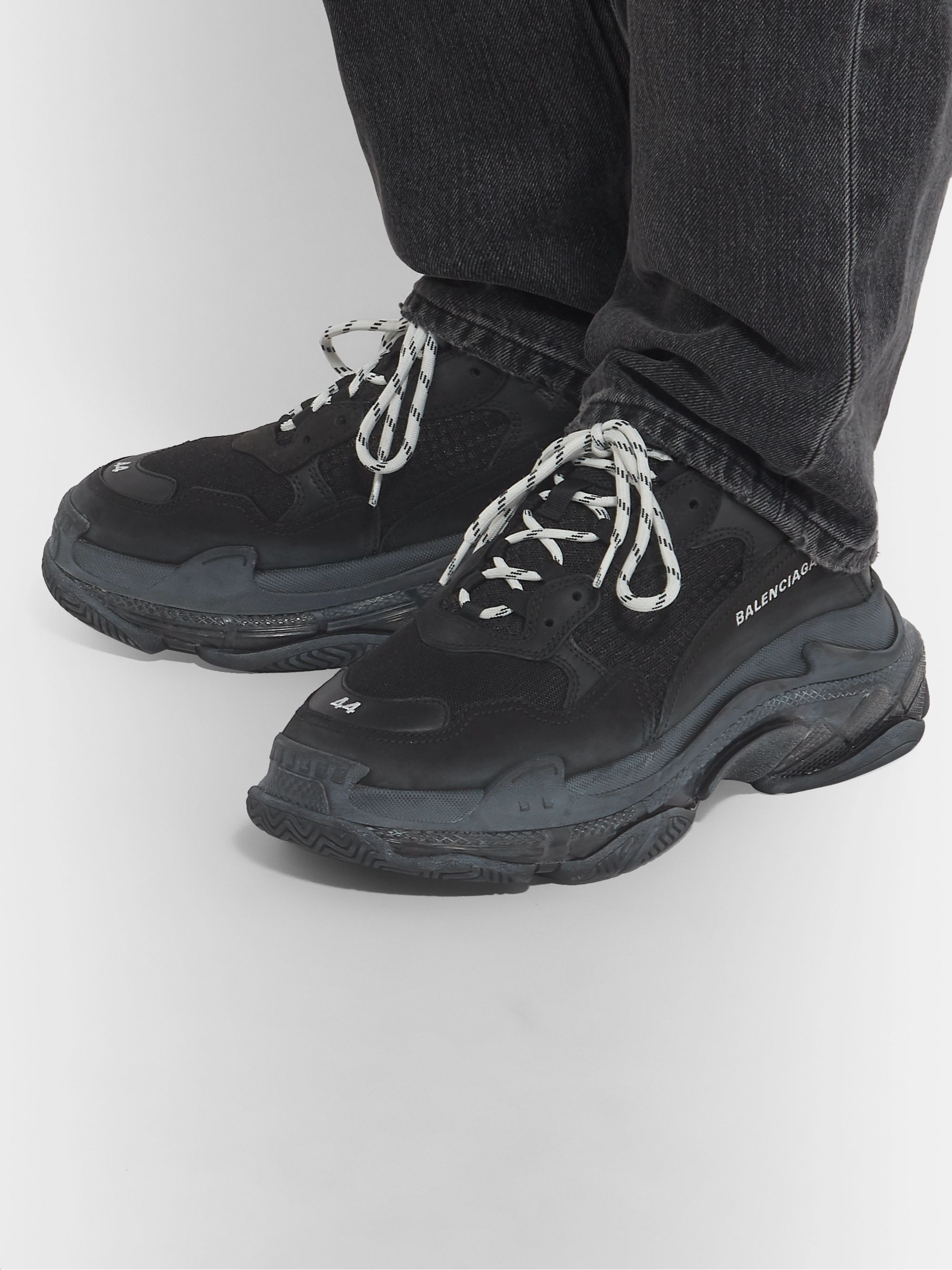 Balenciaga Triple S Triple Black Clear sole ALL SiZES