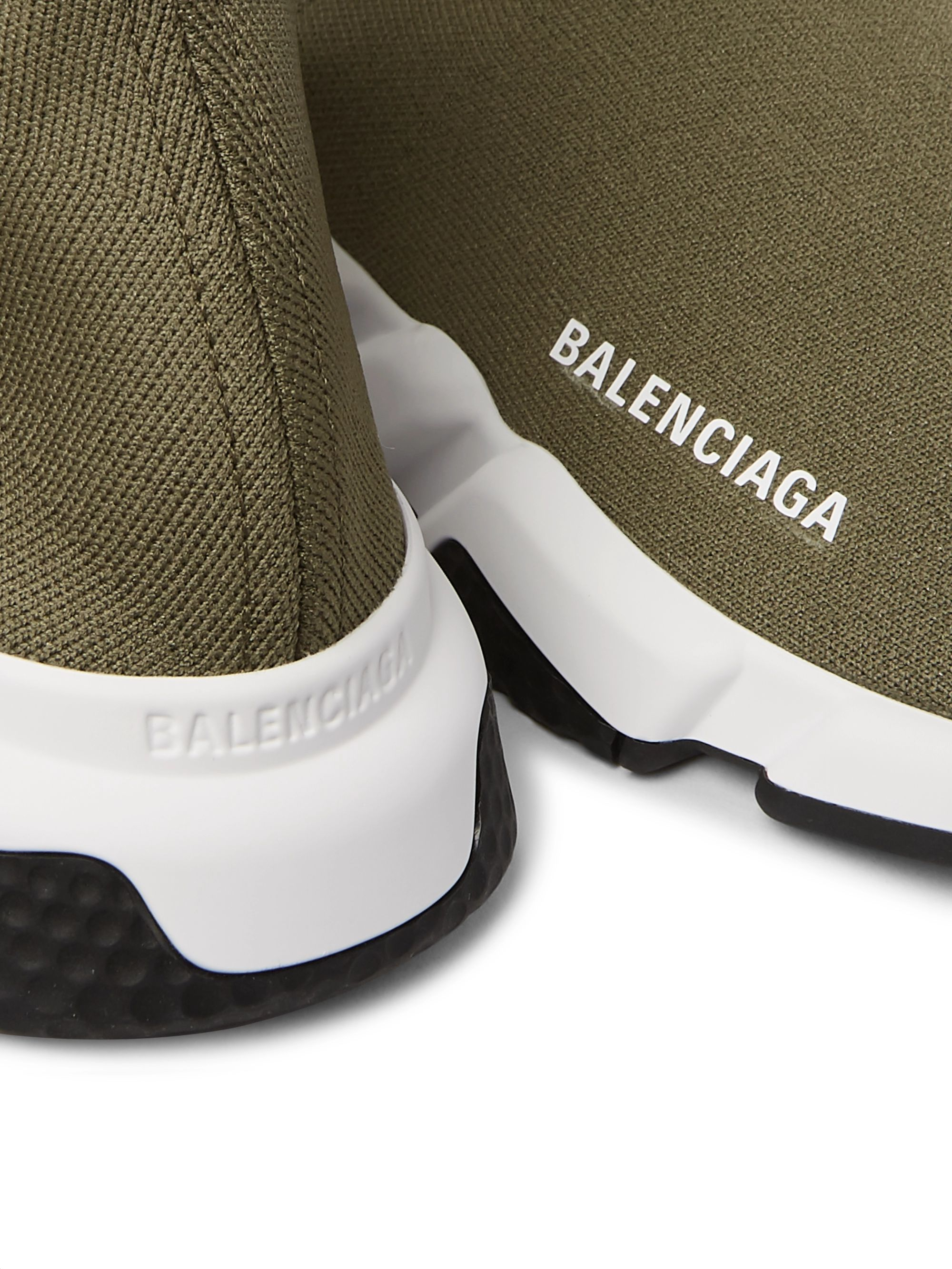 Balenciaga Speed Sock Stretch-Knit Slip-On Sneakers