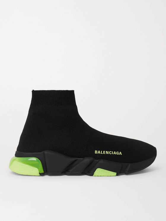 Balenciaga Speed LT Stretch-Knit Slip-On Sneakers