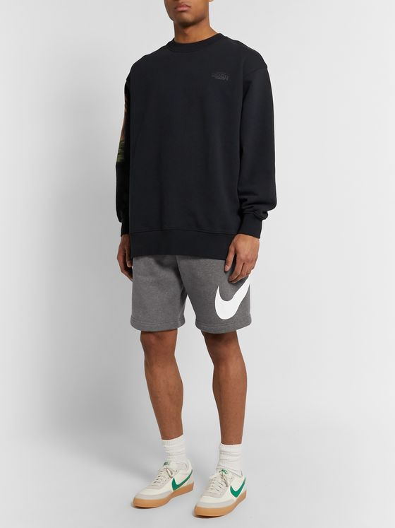 Nike Sportswear Club Logo-Print Fleece-Back Cotton-Blend Jersey Shorts