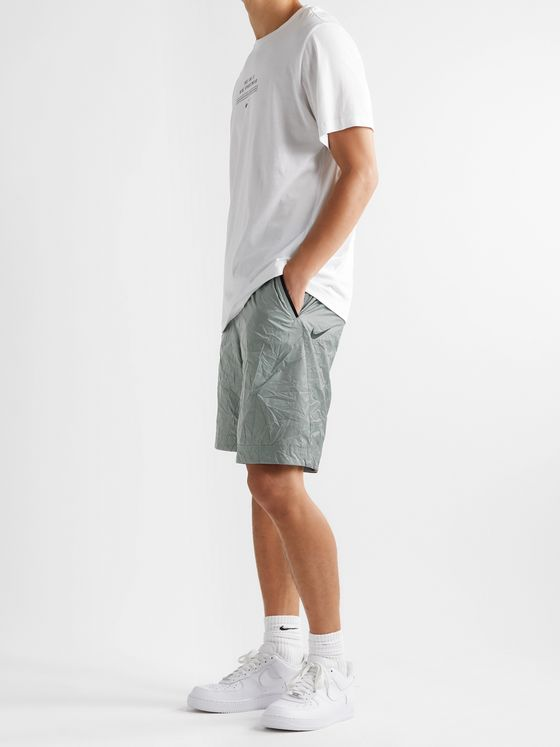 Nike Sportswear Tech Pack Webbing-Trimmed Crinkled-Nylon Shorts