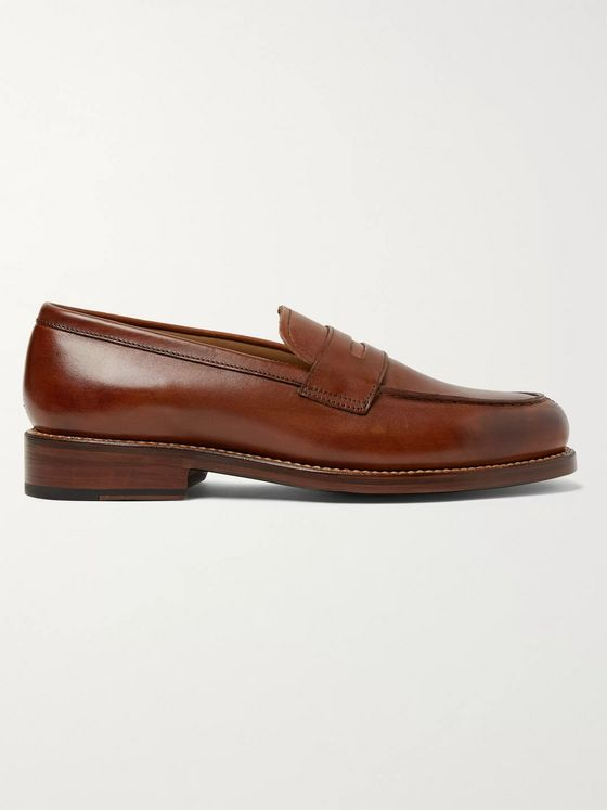 Grenson Peter Hand-Painted Leather Penny Loafers