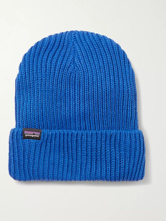 Patagonia Fisherman Logo-Appliquéd Ribbed-Knit Beanie