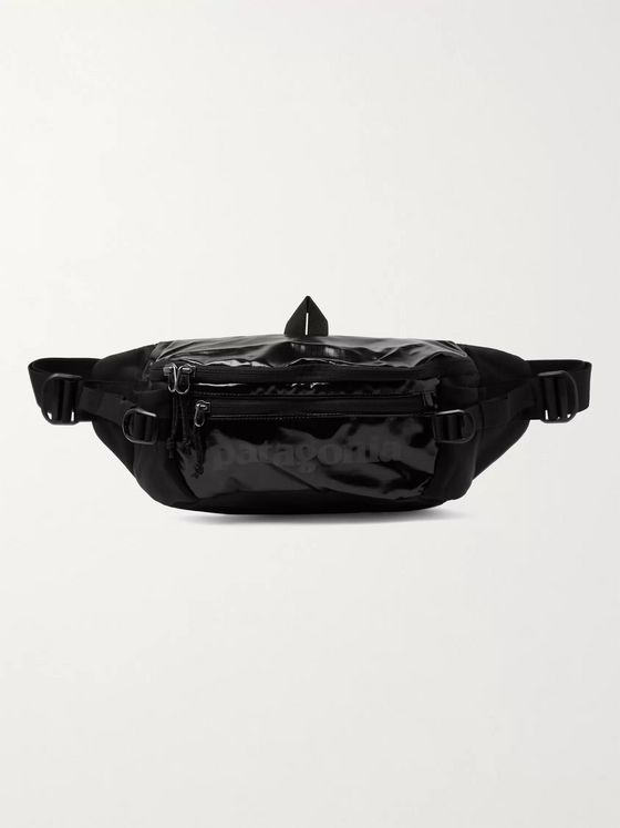 Patagonia Black Hole Logo-Print Coated-Ripstop and Mesh Belt Bag