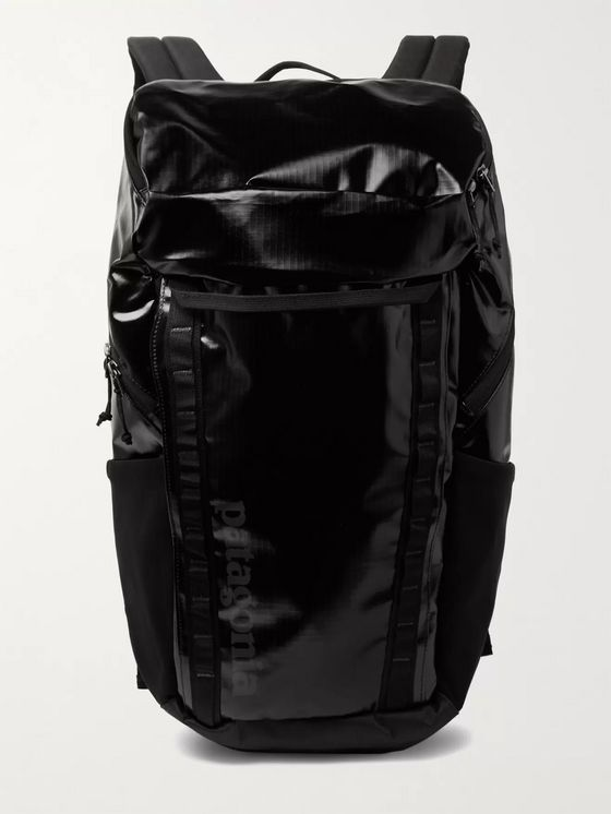 Patagonia Black Hole Logo-Print Coated-Ripstop Backpack