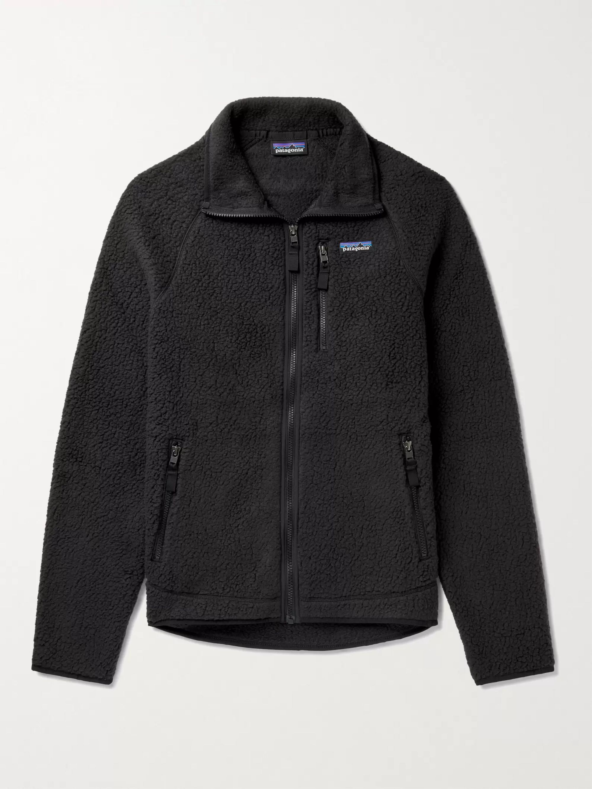 파타고니아 Patagonia Retro Pile Fleece Jacket,Black