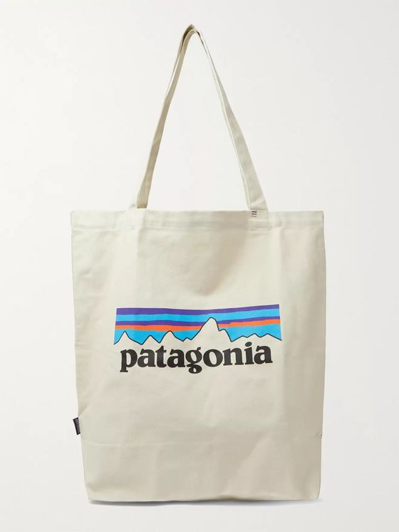 PATAGONIA Market Logo-Print Organic Cotton-Canvas Tote Bag
