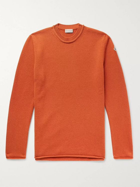 Moncler Logo-Appliquéd Wool and Cashmere-Blend Sweater