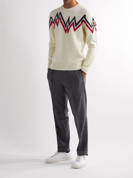 Moncler Slim-Fit Intarsia-Knit Sweater
