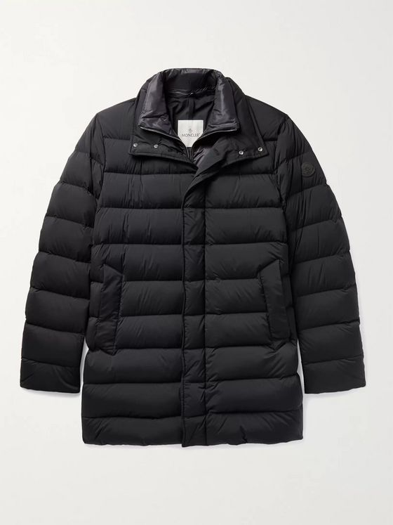 Moncler Bornes Slim-Fit Quilted Shell Down Coat