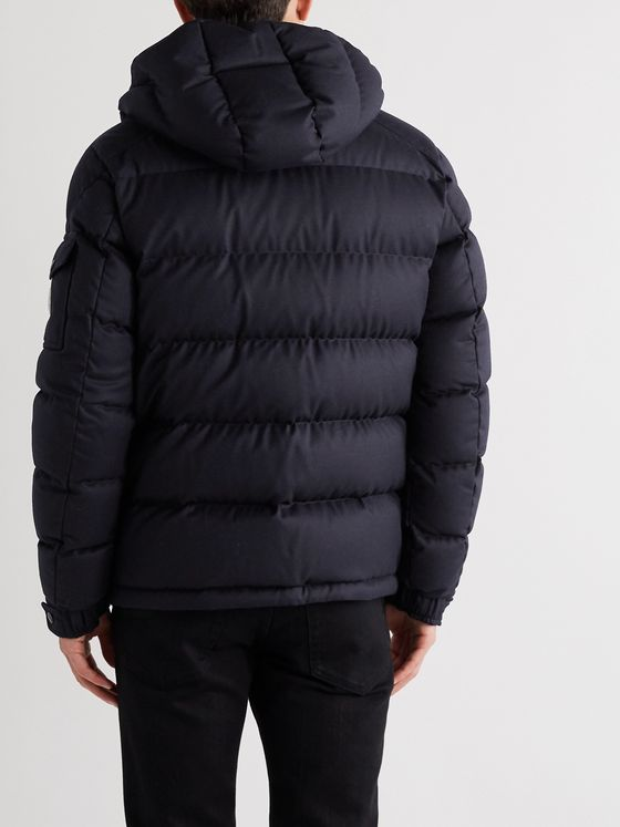 Moncler Montgenevre Quilted Down Virgin Wool-Flannel Jacket