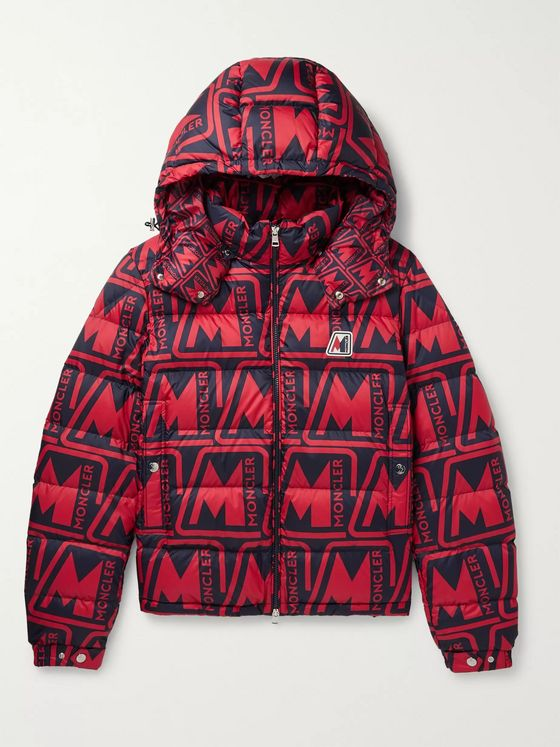 MONCLER Frioland Slim-Fit Logo-Print Quilted Shell Down Hooded Jacket