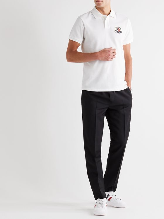 Moncler Logo-Appliquéd Cotton-Piqué Polo Shirt