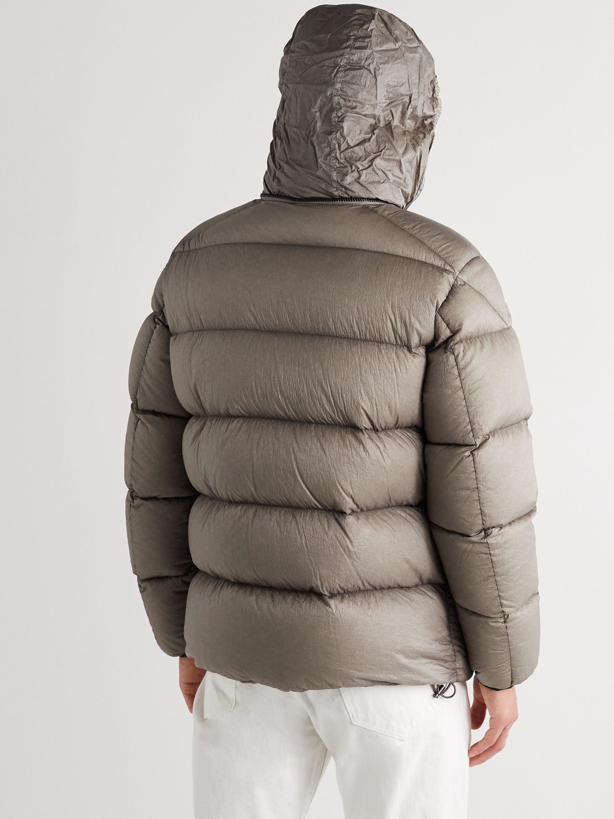 Gray Cevenne Garment-dyed Quilted Shell Down Jacket | Moncler