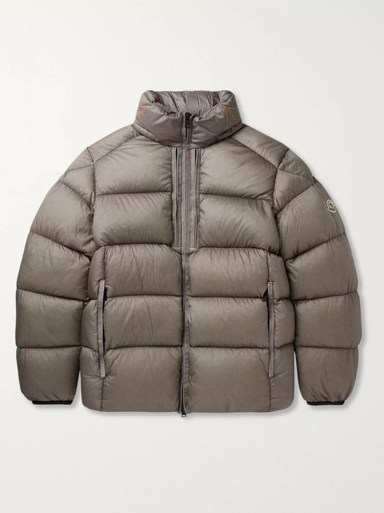 MONCLER Cevenne Garment-Dyed Quilted Shell Down Jacket