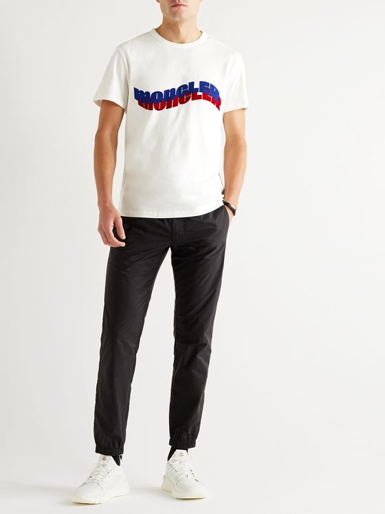 Moncler Logo-Flocked Cotton-Jersey T-Shirt