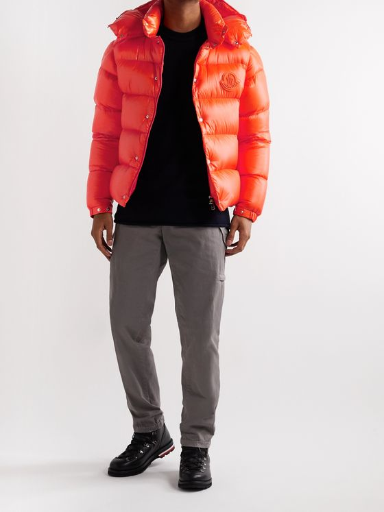 Moncler Tarnos Slim-Fit Logo-Appliquéd Quilted Nylon-Shell Hooded Down Jacket