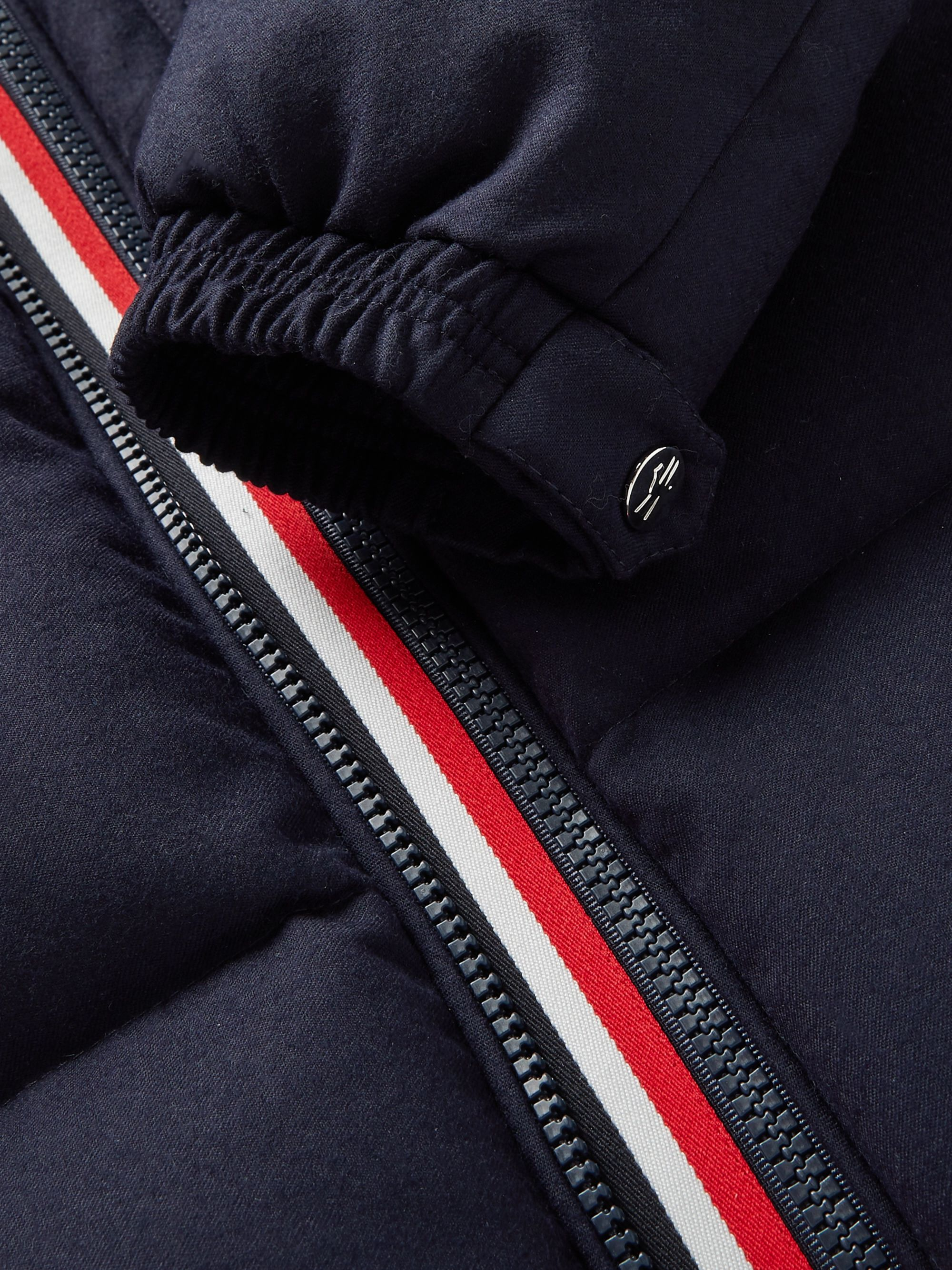 Moncler Brazeau Shell-Trimmed Quilted Virgin Wool Hooded Down Jacket