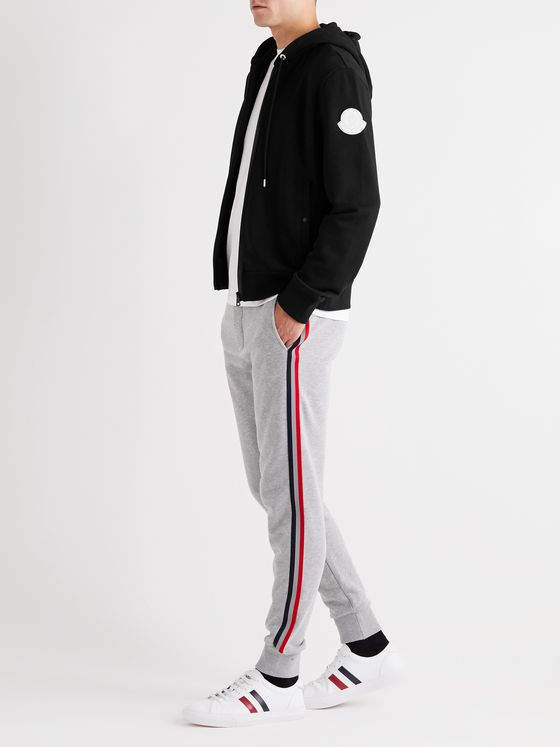 Moncler Logo-Appliquéd Loopback Cotton-Jersey Zip-Up Hoodie