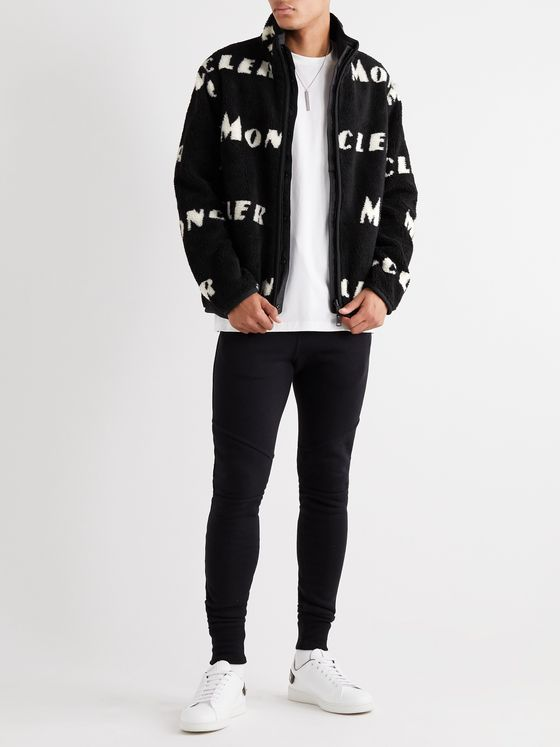 Moncler Reversible Logo-Intarsia Fleece Jacket