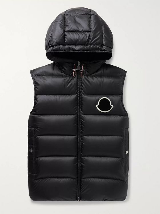 Moncler Vanoise Logo-Appliquéd Nylon Quilted Hooded Down Gilet