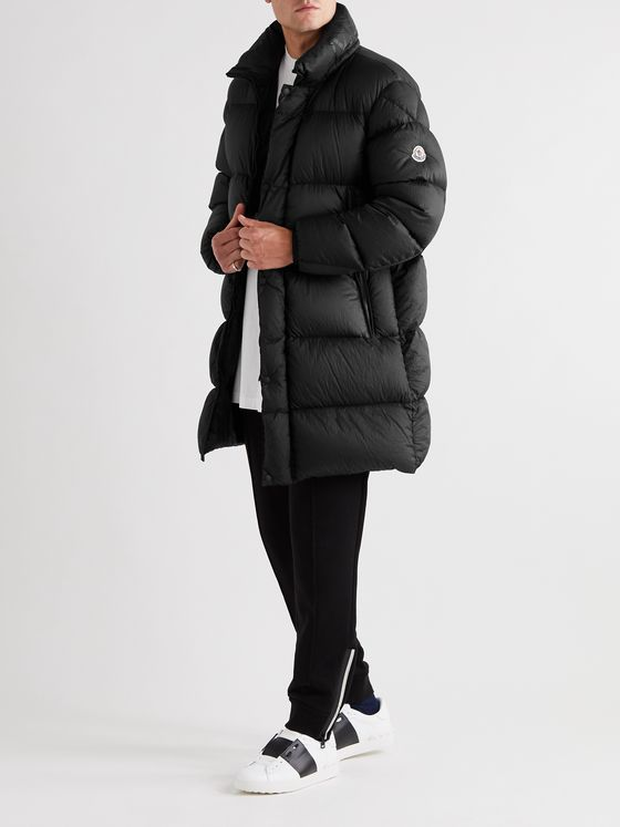 Moncler Lechaud Garment-Dyed Quilted Shell Hooded Down Jacket