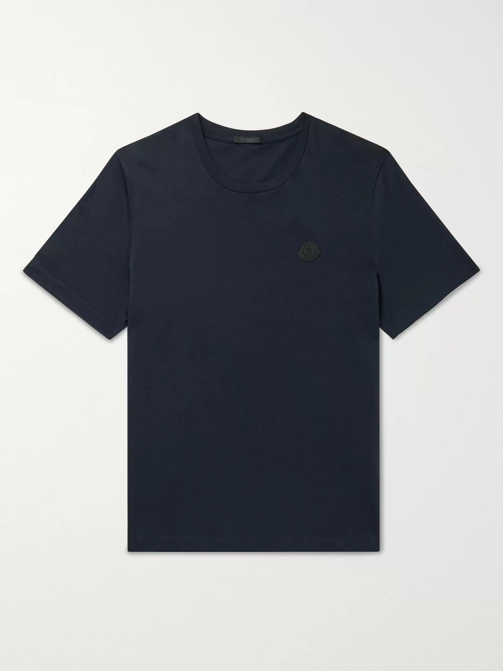 MONCLER Logo-Appliquéd Printed Cotton-Jersey T-Shirt