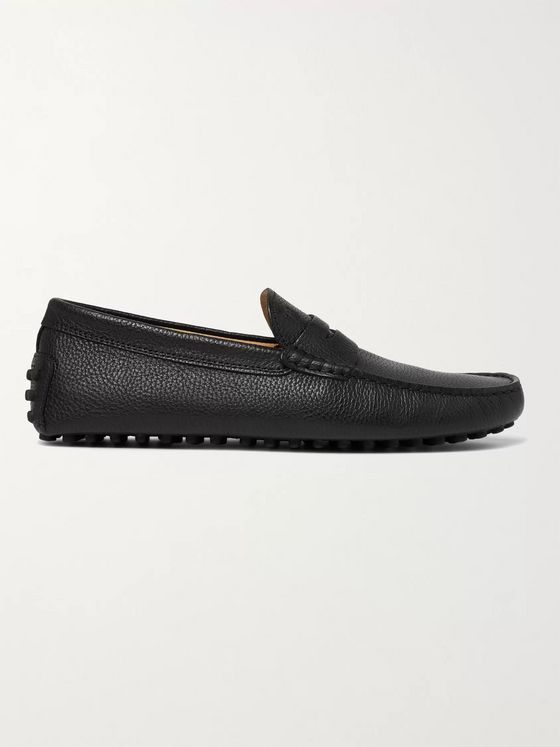 Tod's Gommino Textured Leather Driving Shoes