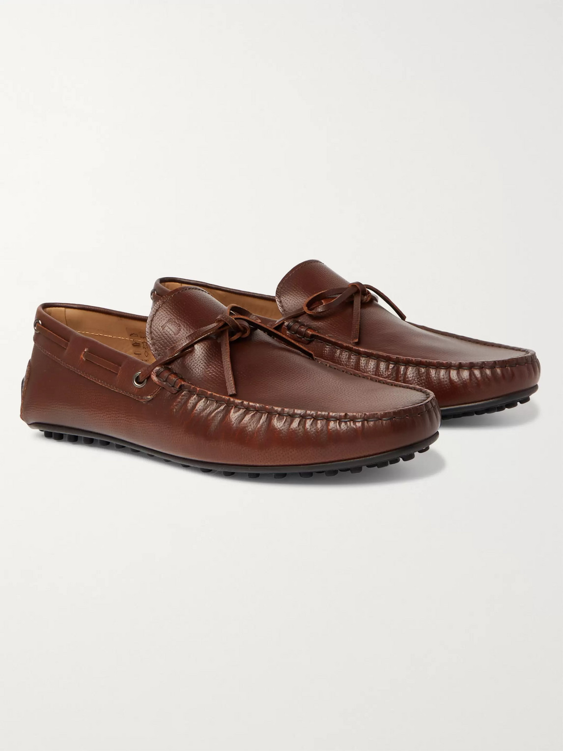 Tod's City Gommino Driving Shoes In Leather In Brown