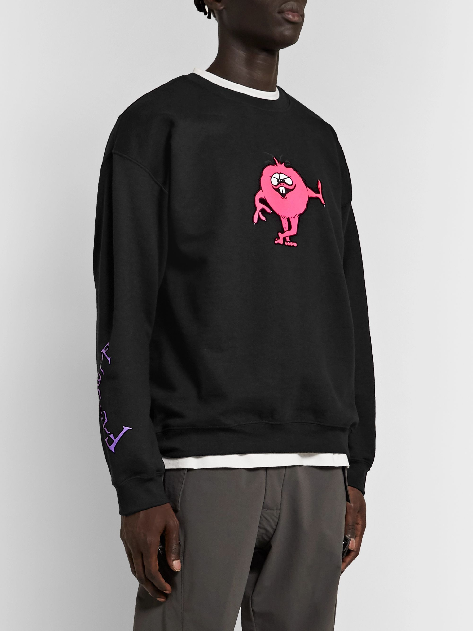 Flagstuff Printed Fleece-Back Cotton-Blend Jersey Sweatshirt