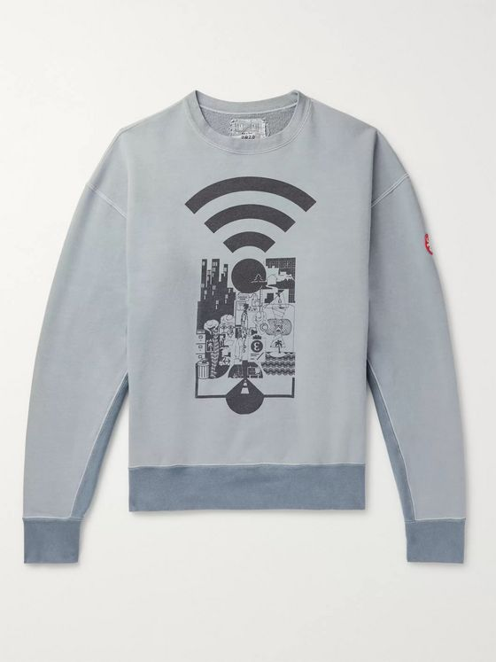 Cav Empt Logo-Appliquéd Printed Loopback Cotton-Jersey Sweatshirt