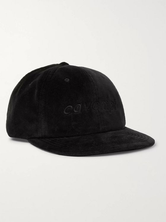 Cav Empt Logo-Embroidered Velvet Baseball Cap