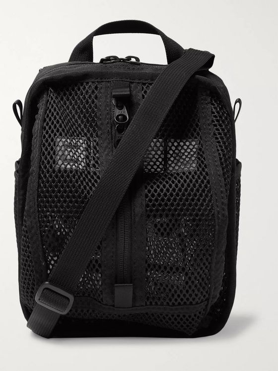 Cav Empt Mesh and Canvas Messenger Bag