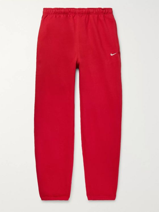 Nike NRG Tapered Fleece-Back Cotton-Blend Jersey Sweatpants