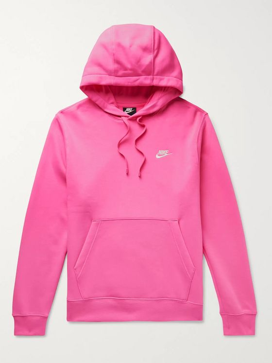 Nike Sportswear Club Fleece-Back Cotton-Blend Jersey Hoodie