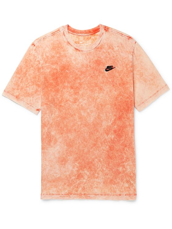 Nike Logo-Embroidered Tie-Dyed Cotton-Jersey T-Shirt