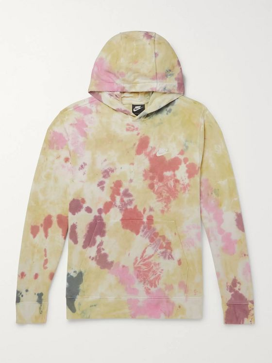 Nike Tie-Dyed Loopback Cotton-Blend Terry Hoodie