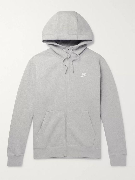 Nike Mélange Fleece-Back Cotton-Blend Jersey Zip-Up Hoodie