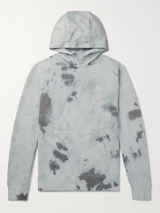 Nike Tie-Dyed Loopback Cotton-Blend Jersey Hoodie