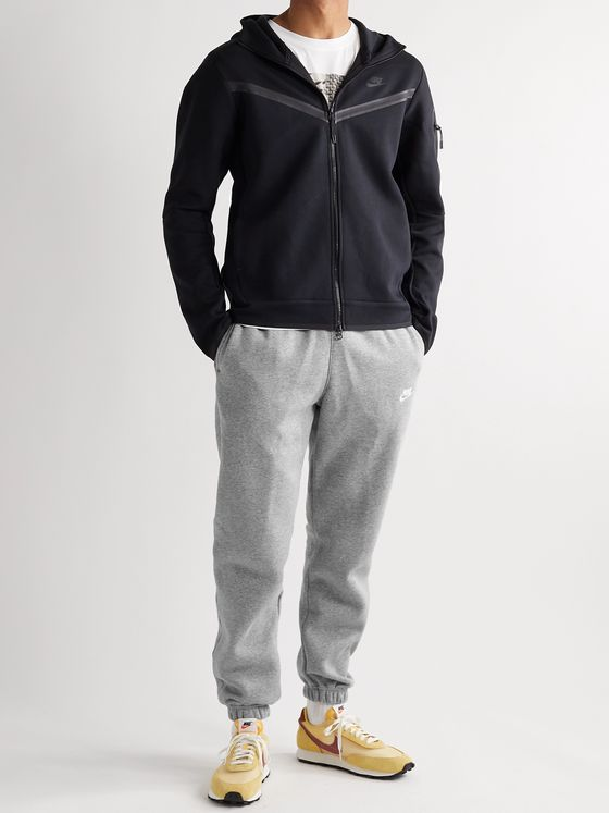 Nike Sportswear Club Tapered Fleece-Back Cotton-Blend Jersey Sweatpants