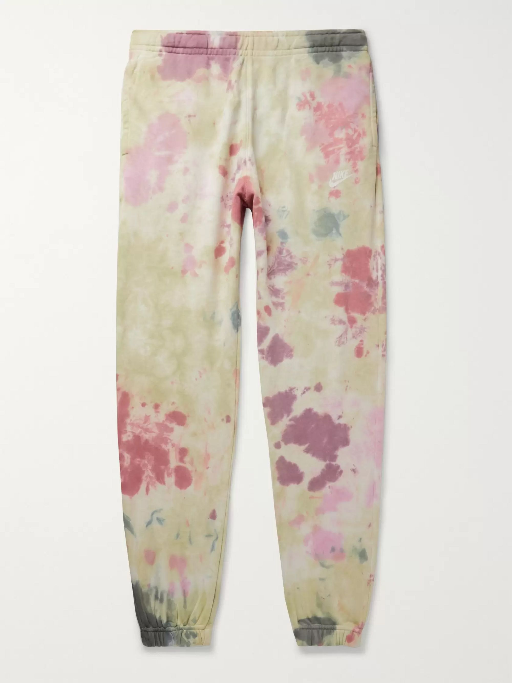 Nike Sportswear Tapered Tie-Dyed Loopback Cotton-Blend Jersey Sweatpants