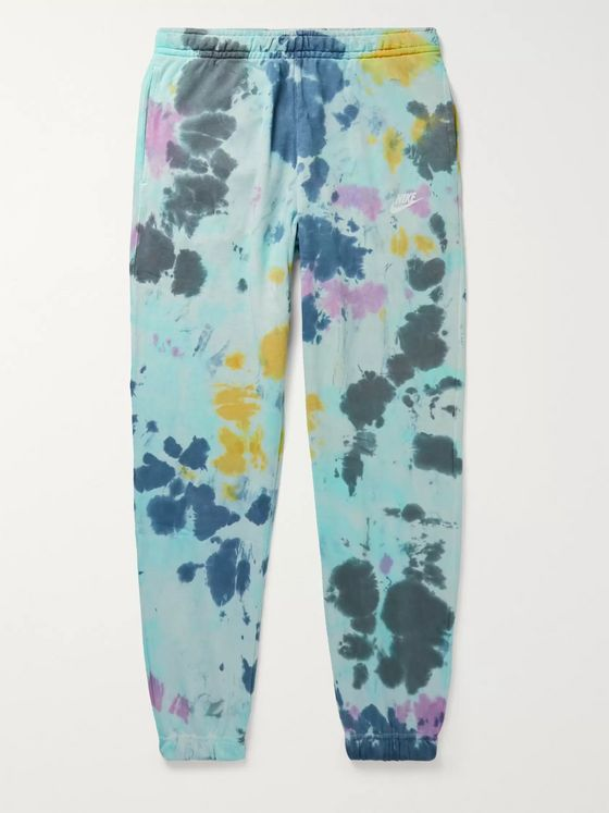 Nike Sportswear Tie-Dyed Loopback Cotton-Blend Jersey Sweatpants