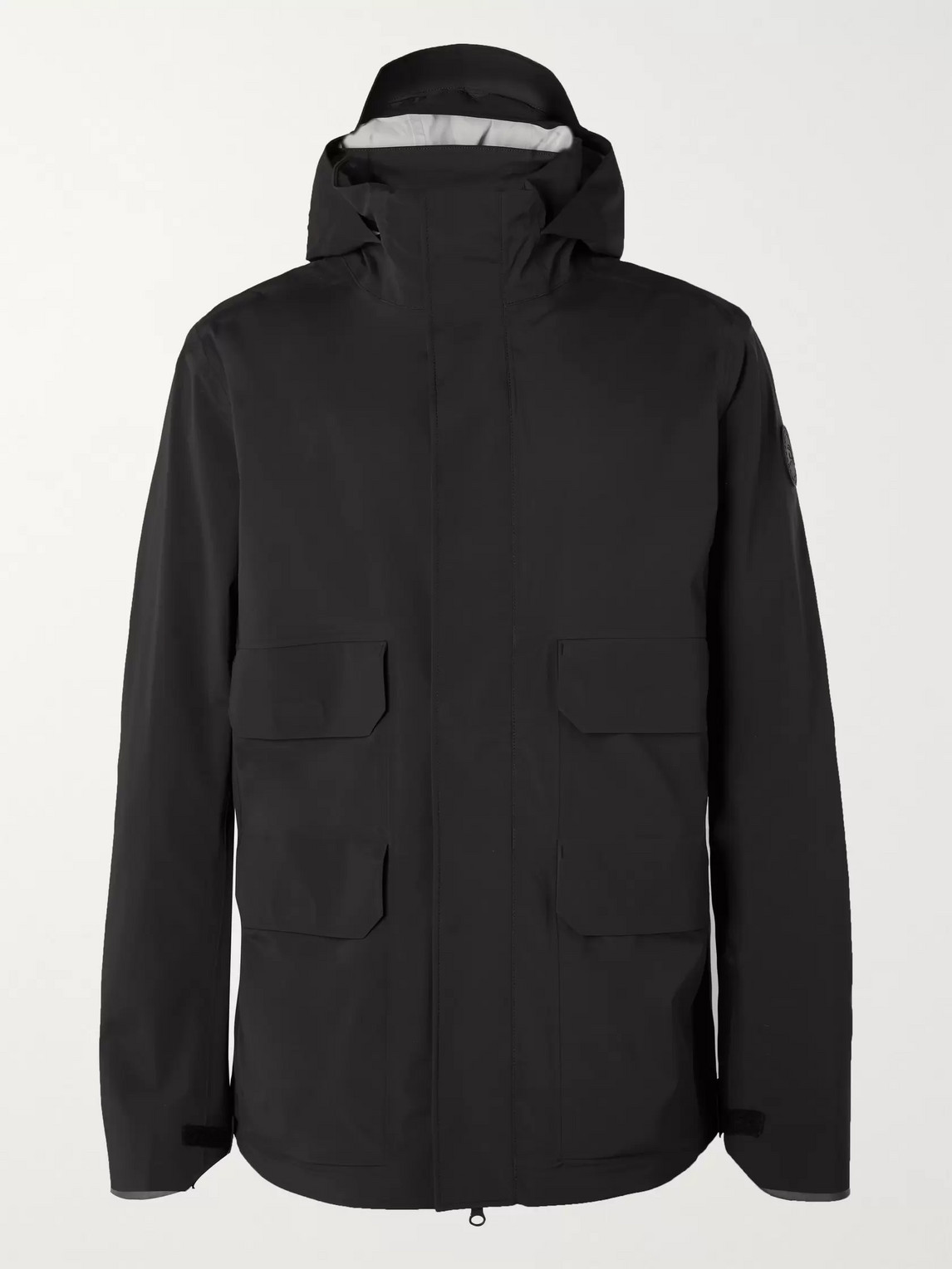 canada goose - meaford logo-print tri-durance hooded jacket - men - black