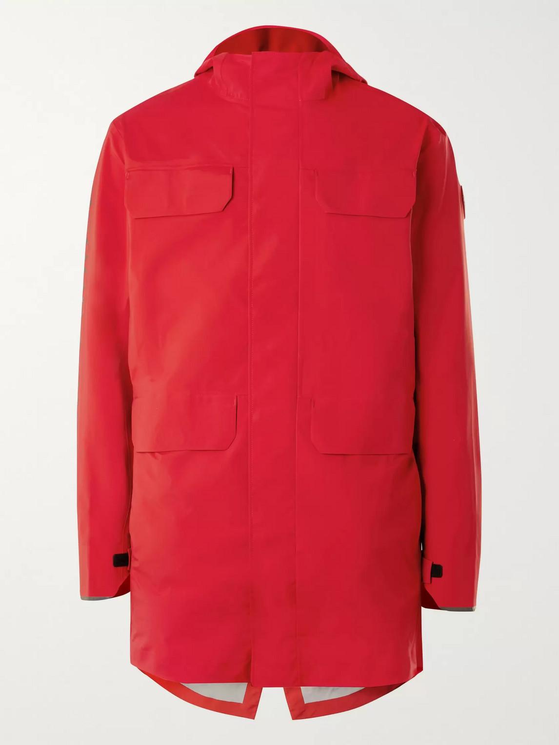 canada goose - seawolf logo-print tri-durance hooded jacket - men - red