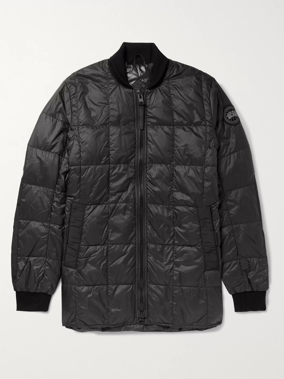 canada goose - harbord quilted shell down bomber jacket - men - black
