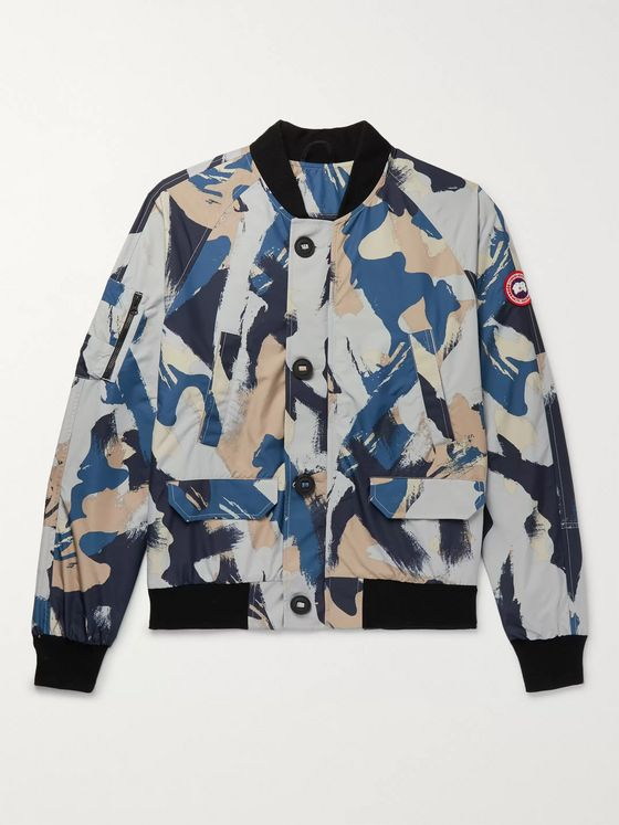 Canada Goose Faber Camouflage-Print Dura-Force Light Bomber Jacket