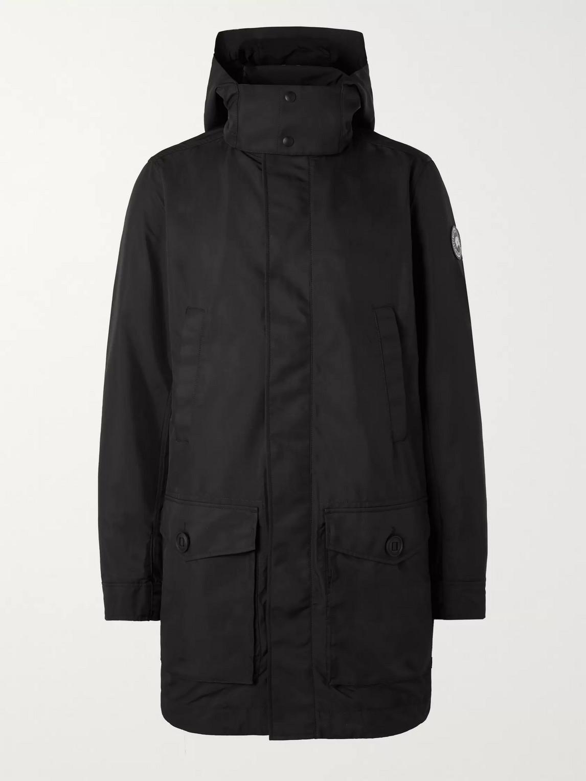 canada goose - crew dura-force light coat - men - black