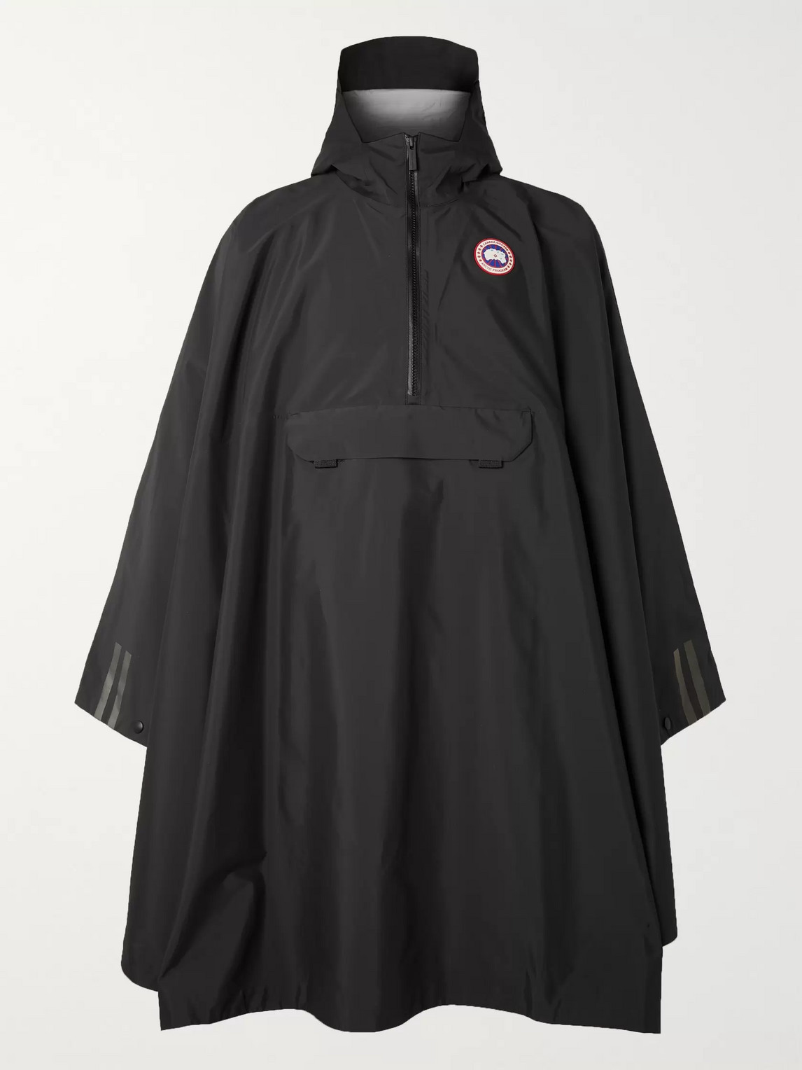 canada goose - field oversized tri-durance hooded poncho - men - black