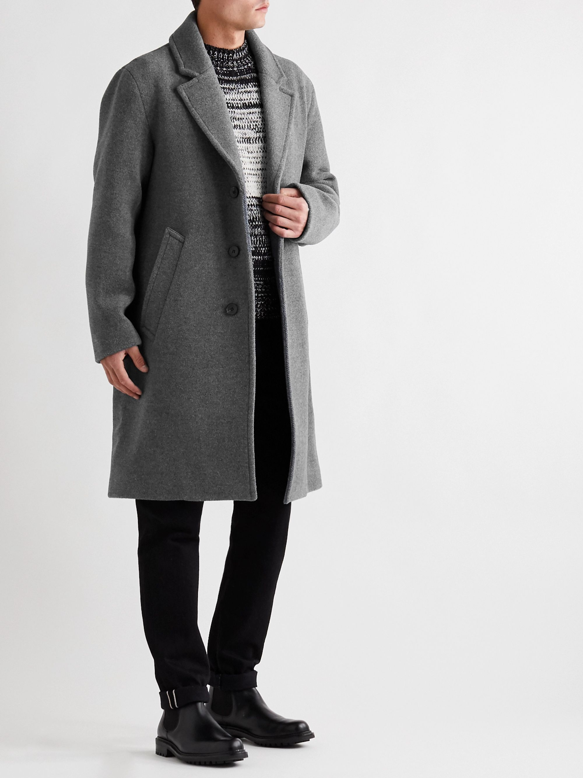 Mr P. Oversized Mélange Wool Coat